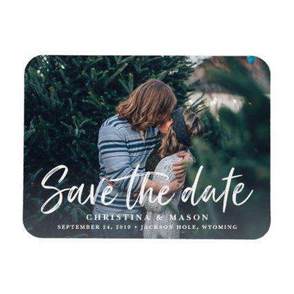 Casual Brush | Photo Save the Date Magnets