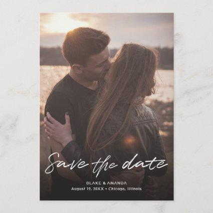 Casual Handwritten Script Save the Date Card