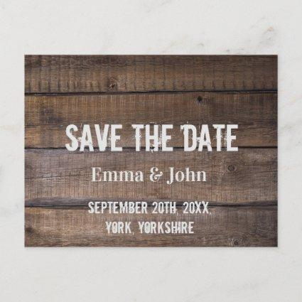 Casual Rustic Modern  Save the Date Announcement