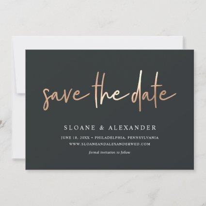 Casual Sketch Copper | Modern Wedding Save The Date