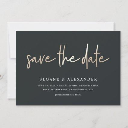 Casual Sketch Gold | Modern Wedding Save The Date
