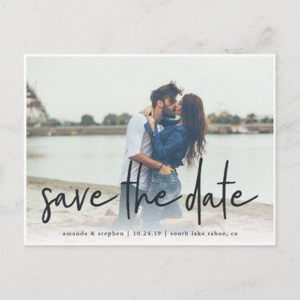 Casual Sketch | Photo Save the Date Announcements Cards