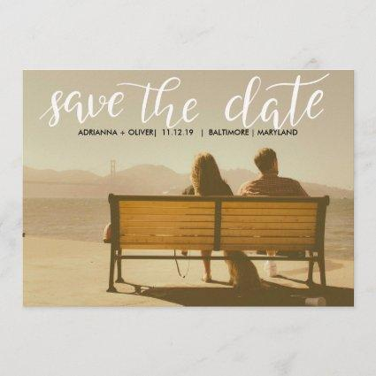 Casual  Wedding Save The Date Script Photo
