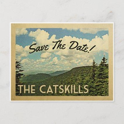 Catskills Mountains Save The Date Vintage