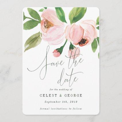 CELEBRATE WATERCOLOR SAVE THE DATE INVITATION