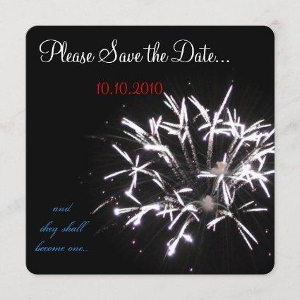 Celebration Save-the-date red/white/blue Save The Date
