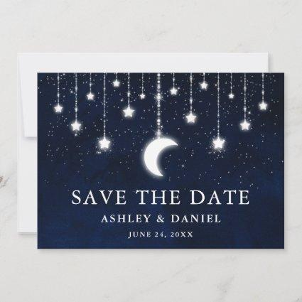 Celestial Moon Stars String Lights Save The Date