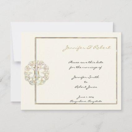 Celtic Tree of Life Gold Save the Date