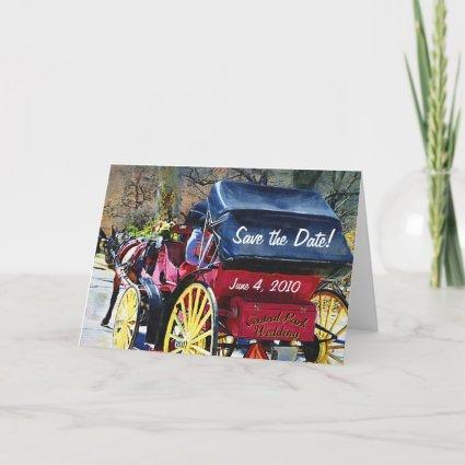 Central Park Wedding Save the Date Card