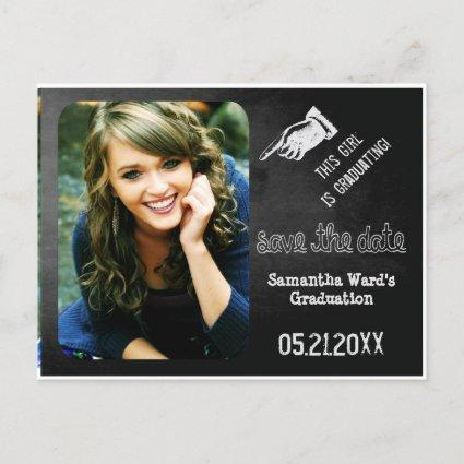 Chalk Vintage Fun Save The Date Graduation Announcements Cards