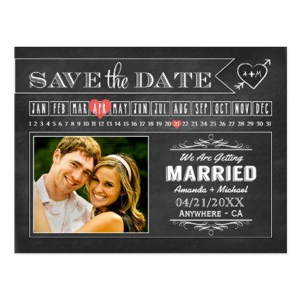 Calendar Save The Date Cards Template – Save the Date Cards