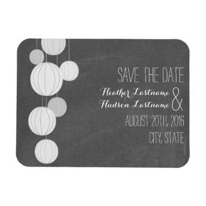 Chalkboard Garden Lanterns Wedding Save The Date Magnets