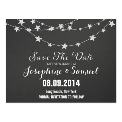 Chalkboard Save The Date Announcements Cards