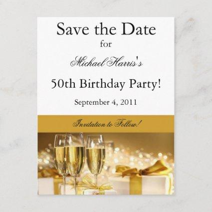 Champaagne Save the Date Invitation