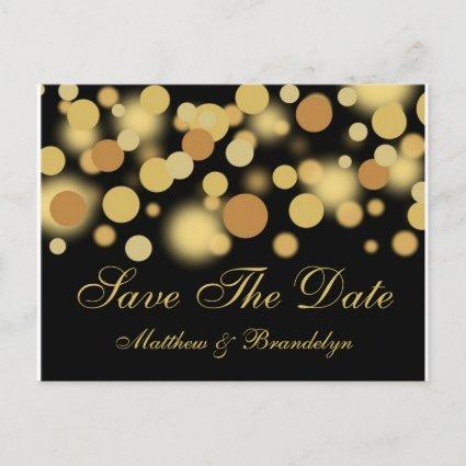 Champagne Bubbles Save The Date Post Cards
