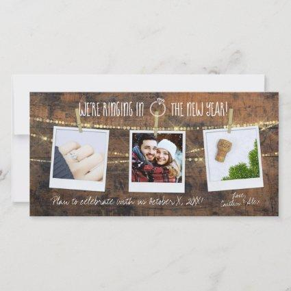 Champagne Cork 2020 New Year Rustic Save the Date