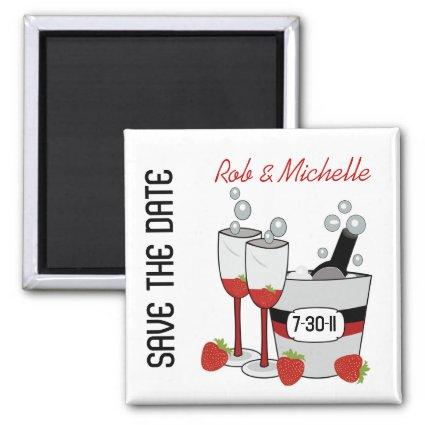 CHAMPAGNE  Custom Magnets Favor