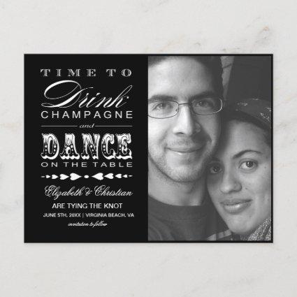 Champagne Theater Bill SAVE THE DATE Cards