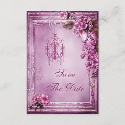 Chandelier & Flowers Baby Shower Save the Date