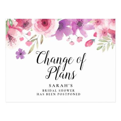 Change of Date Postponed Cancelled Event Floral