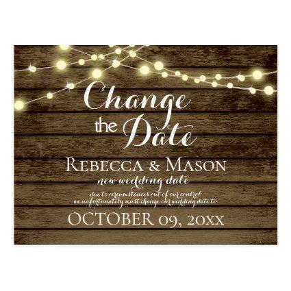 Change of Date Rustic Barn Wood and Lights