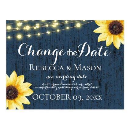 Change of Date Sunflowers and Blue Barn Wood