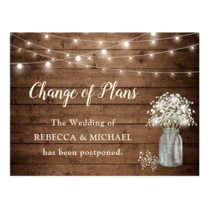 Change of Plans Baby's Breath Rustic String Lights