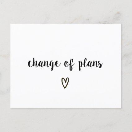 Change of Plans Black and White Heart Postponed Announcement