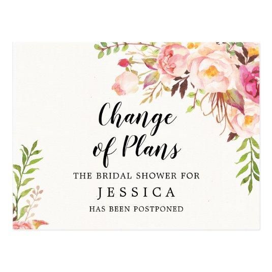 Change of Plans Bridal Shower Postponed
