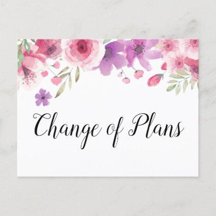 Change of Plans Date Postponed Cancelled Floral Announcement