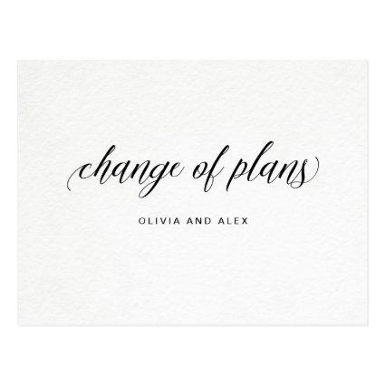 Change of Plans | Elegant Typography