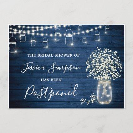 Change the Date Baby's Breath Rustic Bridal Shower Invitation