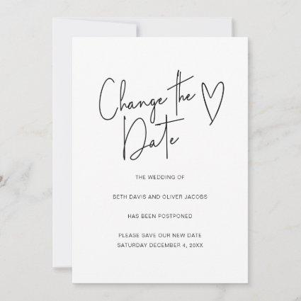 Change the Date Change of Plans Simple Invitation