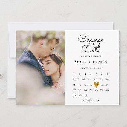 Change the Date New Plans Calendar Photo Save The Date