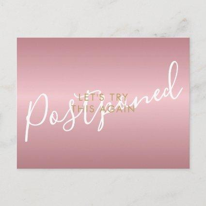 Change the Date Postponed Cancelled Chic Rose Gold