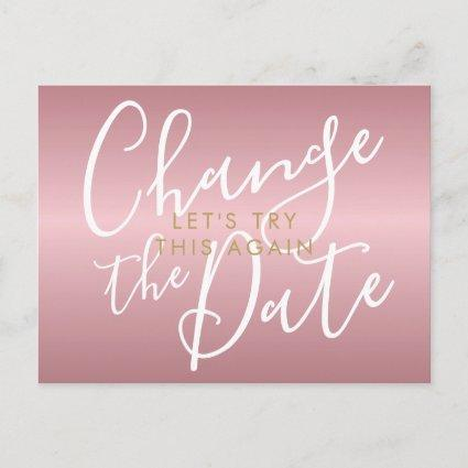 Change the Date Postponed Cancelled ChicRose Gold