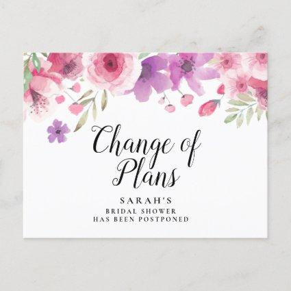 Change the Date Postponed Cancelled Event Floral Announcement