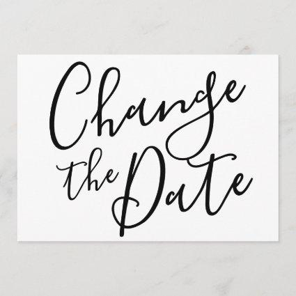 Change the Date Postponed Cancelled Event Modern Invitation