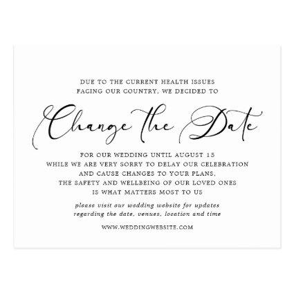 Change The Date Postponed Or Cancelled Wedding