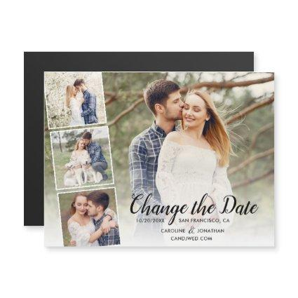 Change the Date Postponed Wedding Photo Collage