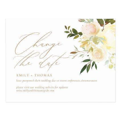 Change the Date Script Elegant Watercolor Floral