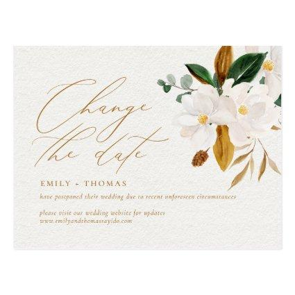 Change the Date Script Elegant Watercolor Magnolia