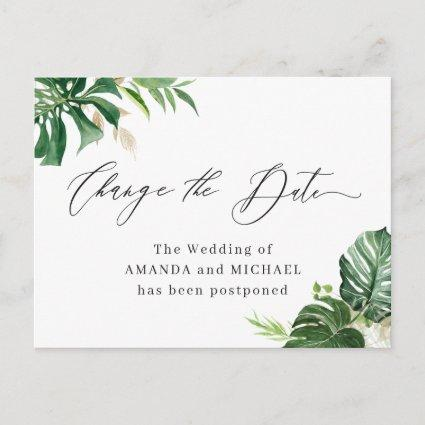 Change the Date Script Tropical Palm Leaves