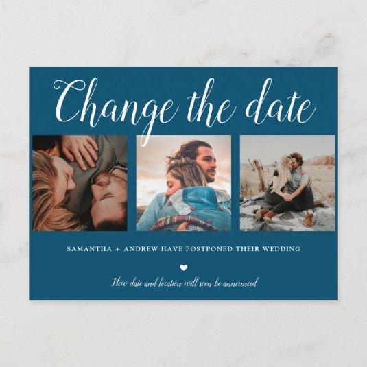 Change the date typography blue 3 photo grid announcement