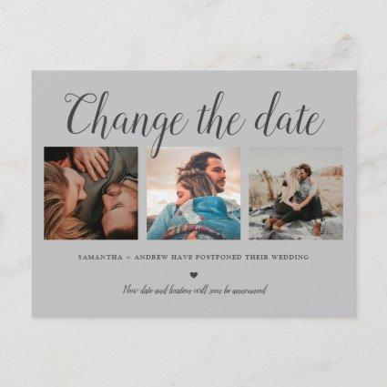 Change the date typography gray 3 photo grid announcement