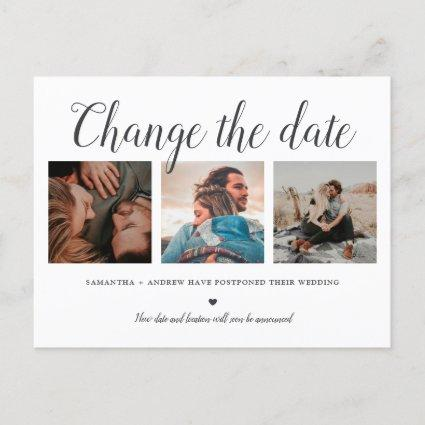 Change the date typography trendy 3 photo grid announcement