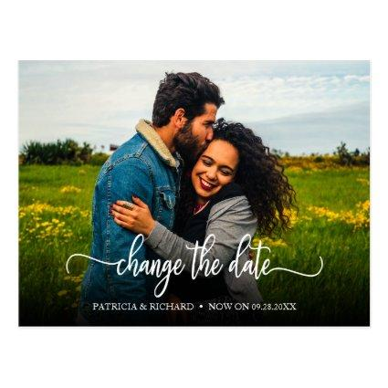 Change The Date Wedding Postponed Announcement