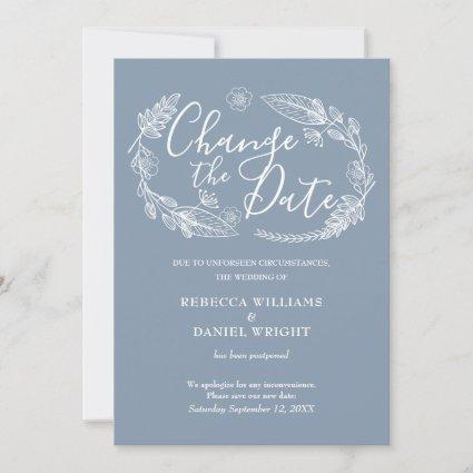 Change the Date Wedding Rustic Country Floral Save The Date