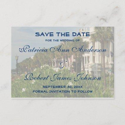 Charleston SC Rainbow Row Save The Date Wedding
