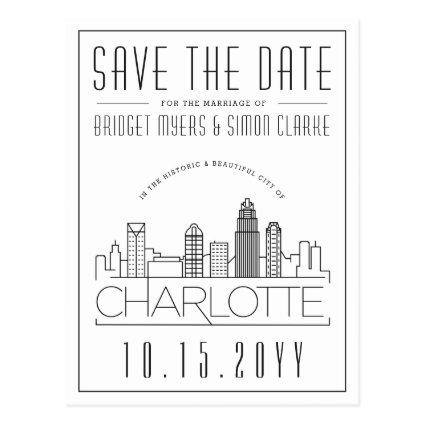 Charlotte Wedding | Stylized Skyline